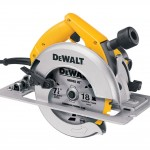 DEWALT DW364K Circular Saw with Electric Brake Closeup