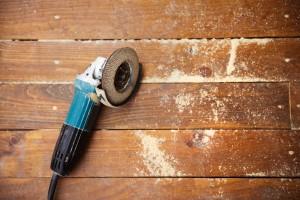 grinding tool on floor