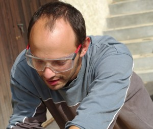Woodworking eye protection