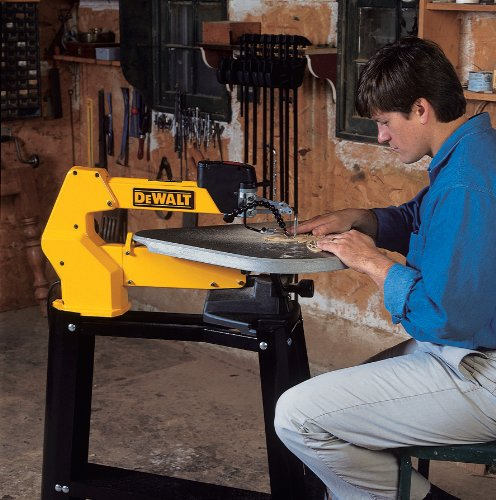 Dewalt DW788 Scroll Saw In Use